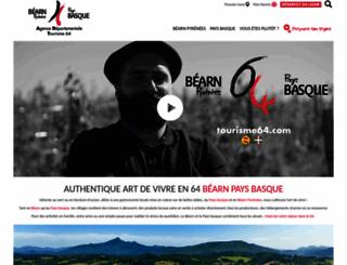 tourisme64.com screenshot