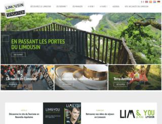tourismelimousin.com screenshot