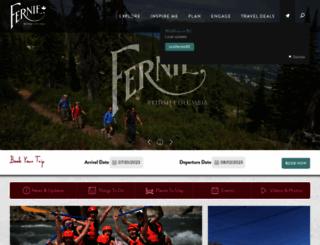 tourismfernie.com screenshot