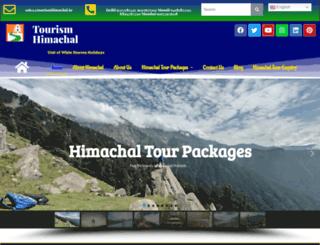 tourismhimachal.in screenshot