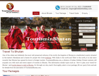 tourisminbhutan.com screenshot