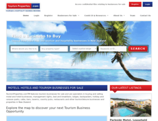 tourismproperties.com screenshot