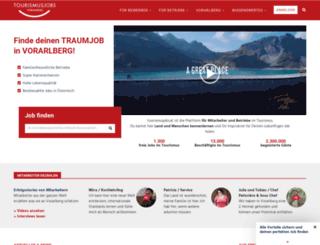 tourismusjobs.at screenshot