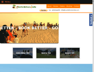 touristdriversindia.net screenshot