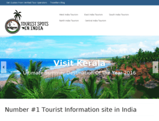 touristspotsinindia.in screenshot