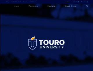touro.edu screenshot