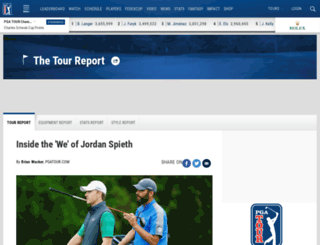 tourreport.pgatour.com screenshot