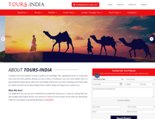 tours-india.com screenshot