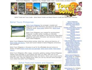 toursbohol.com screenshot