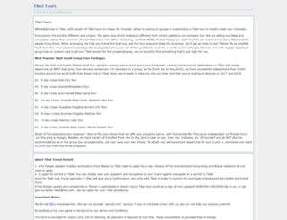 toursoftibet.com screenshot