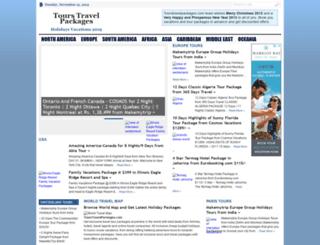 tourstravelpackages.com screenshot