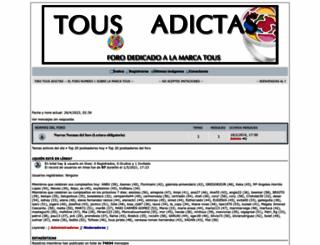 tousadictas.foroactivo.com screenshot
