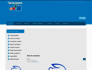 touslesconcours.info screenshot