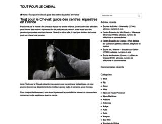 toutpourlecheval.fr screenshot