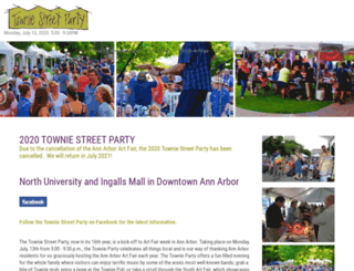 towniestreetparty.com screenshot