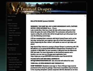 townofdraper.com screenshot