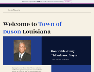 townofduson.com screenshot