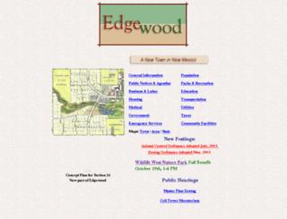 townofedgewood.com screenshot