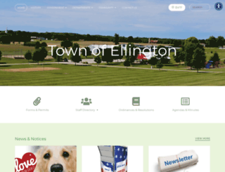 townofellington.org screenshot