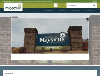 townofmaysville.org screenshot