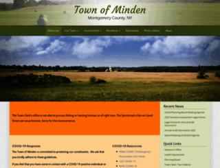 townofminden.org screenshot
