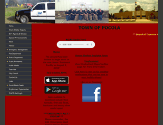 townofpocola.com screenshot