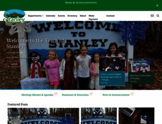 townofstanley.com screenshot