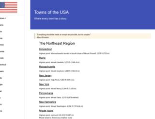 townsoftheusa.com screenshot