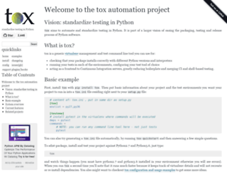tox.readthedocs.org screenshot