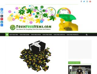 toxicfreeitems.com screenshot