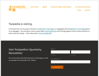toxipedia.org screenshot