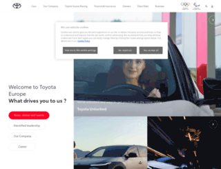 toyota-europe.com screenshot