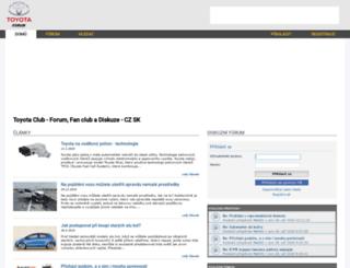 toyota-forum.cz screenshot