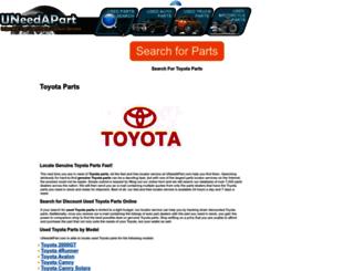 toyota-parts.uneedapart.com screenshot