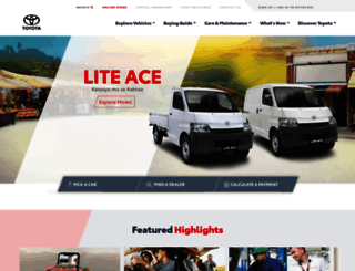 toyota.com.ph screenshot