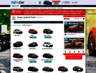 toyota.infocar.ua screenshot