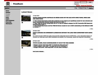 toyota.pressroom.com.au screenshot