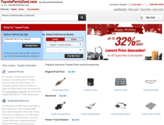 toyotapartszone.com screenshot