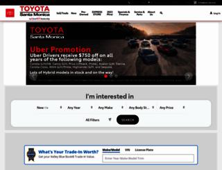 toyotasantamonica.com screenshot