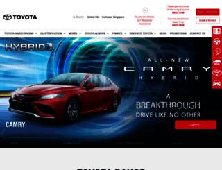 toyotasingapore.com.sg screenshot