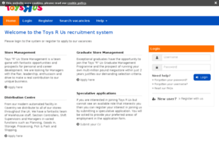 toysrus.gtisolutions.co.uk screenshot
