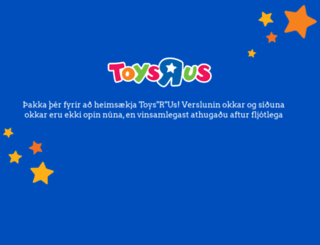 toysrus.is screenshot