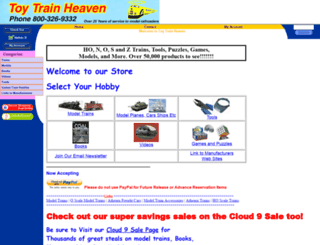 toytrainheaven.com screenshot