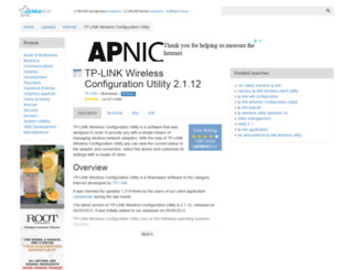 tp-link-wireless-configuration-utility.updatestar.com screenshot