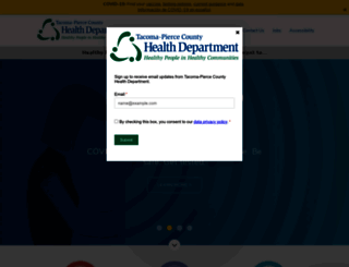 tpchd.org screenshot