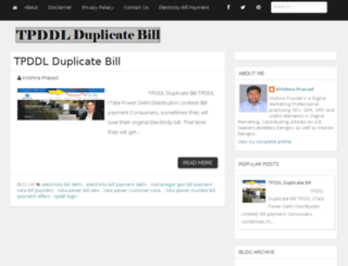 tpddlduplicatebill.in screenshot