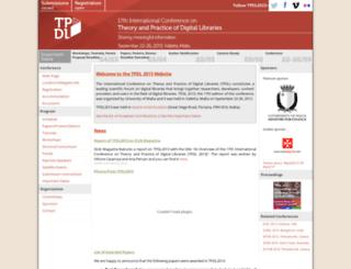 tpdl2013.upatras.gr screenshot