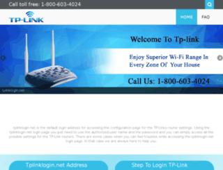 tplinkloginnet.net screenshot