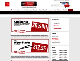 tps.toyotaofdallas.com screenshot