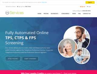 tpsservices.co.uk screenshot